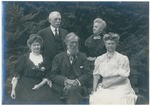 John Muir with Sellers Family (only Mrs. A. H. Sellers, far right, identified) probably Pasadena, California