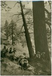 John Muir (fourth from left) and Sierra Club group at Rancheria Mountain, Yosemite National Park, California