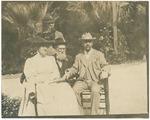 Mary A. Harriman, unidentified, John Muir, Edward Harriman in Pasadena, California