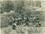 John Muir with Sierra Club group on trail to Hetch Hetchy, California