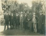 Henry Osborn, George E. Hale, James A. B. Scherer, John Muir, John D. Hooker, Anstruther Davidson, Andrew Carnegie, and James H. McBride in Los Angeles, California