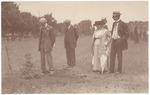John Muir and three unidentified people