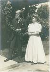 John Muir with Mrs. A. H. Sellers in Pasadena, California