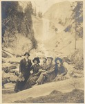 John Muir with 'Osborn Party' at Vernal Falls, Yosemite National Park, California