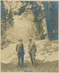 John Muir and Henry F. Osborn, probably in the Sierra Nevada, California