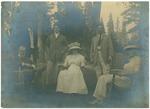 John Muir (left) with Herrin Family at McCloud River, California