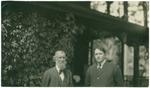John Muir with unidentified man at McCloud River, California