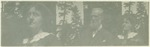 Mrs. Herrin, John Muir, Mrs. Herrin (two images on one print)