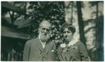 John Muir and Mrs. Herrin at McCloud River, California