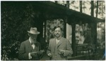 John Muir and unidentified man at McCloud River, California
