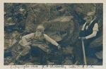 John Burroughs and John Muir on the trail to Nevada Falls in Yosemite