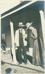 John Muir with Helen Muir? probably at Adamana, Arizona