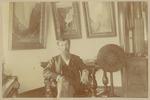 John Muir in Theodore P. Lukens' home, Pasadena, California