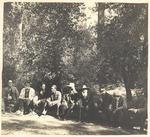 Bunnell, Lemon, Keeler, Henry Gannett, C. Hart Merriam, Theodore Hittell, Keith, Merriam Sr., John Muir in Kings Canyon, California