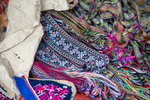Woven flower belts and drawstrings by Marie Anna Lee