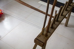 Threads on the warping board by Marie Anna Lee