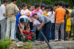 Pump used for the volunteer firefighter competition by Marie Anna Lee