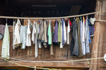 Clothes hanging up to dry by Marie Anna Lee