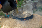 Mulberry bark boiling by Marie Anna Lee