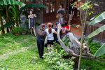 Tourists in Eco-Museum by Marie Anna Lee