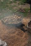 Mulberry bark in wok by Anastasya Uskov