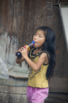 Child drinking soda by Marie Anna Lee