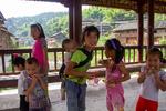 Children on bridge by Marie Anna Lee