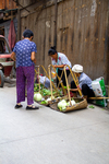 Selling vegetable in Liping by Marie Anna Lee