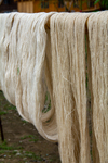 Preparing/drying cotton thread by Marie Anna Lee