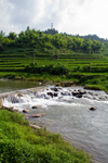 Dengzen river and paddy fields by Marie Anna Lee