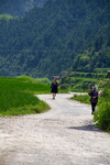 Two women on the road from Dimen to Dengcen by Marie Anna Lee