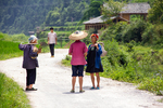 Women talking on the road from Dimen to Dengcen by Marie Anna Lee