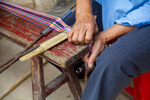Removing loom from warping bench by Marie Anna Lee