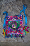 Square festive apron by Marie Anna Lee