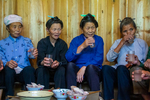 Rice wine at lunch gathering by Marie Anna Lee