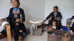 Wu Huazhuan, Wu Yingniang and Wu Mnci with group spinning thread by Marie Anna Lee