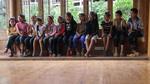 Children choir singing