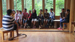 Wu Zhangshi leading children choir practice by Marie Anna Lee