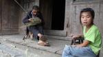 Basket weaver working