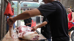 Pig cuts at butcher stall