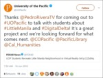 University of the Pacific Tweet by University of the Pacific