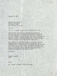 George Moscone to Dan White, 20 November 1978 by George Moscone