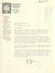 Jim Jones to George Moscone, 16 August 1976