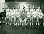 George Moscone on the Pacific Basketball team by University of the Pacific
