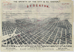 """Birds Eye View of the city of Stockton, the manufacturing city of California """"1896"""""""