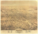 Birds Eye View of the city of Stockton, San Joaquin County, California