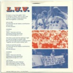 Back of record sleeve featuring Pacific students