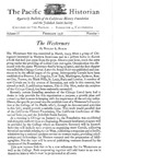 The Pacific Historian, Volume 02, Number 1 (1958)