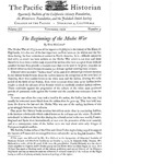 The Pacific Historian, Volume 03, Number 4 (1959)