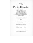 The Pacific Historian, Volume 07, Number 4 (1963)